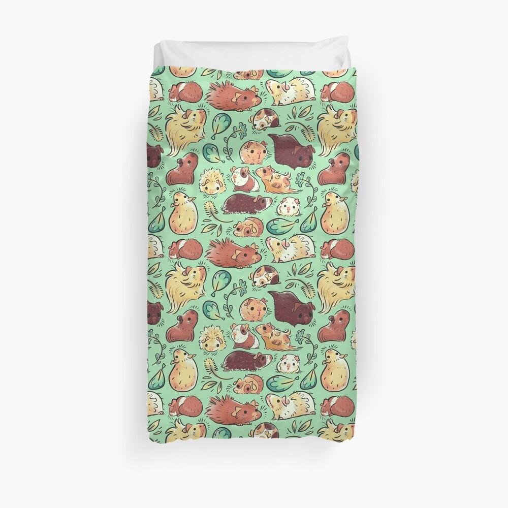 Meerschweinchen-Huddle Bettbezug