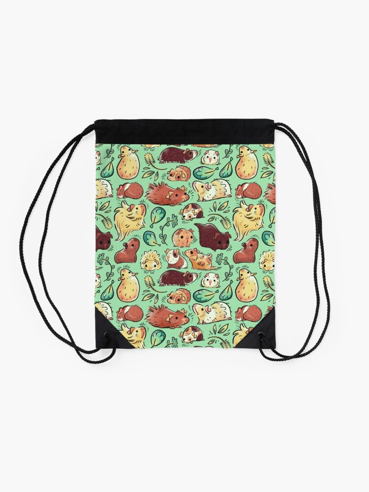 Drawstring Backpack Cute Guinea Pigs Shoulder Bags