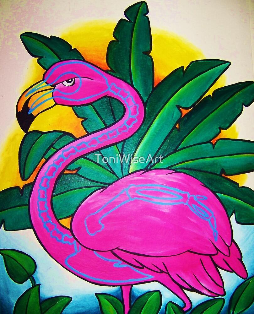 Bones The Flamingo by ToniWiseArt