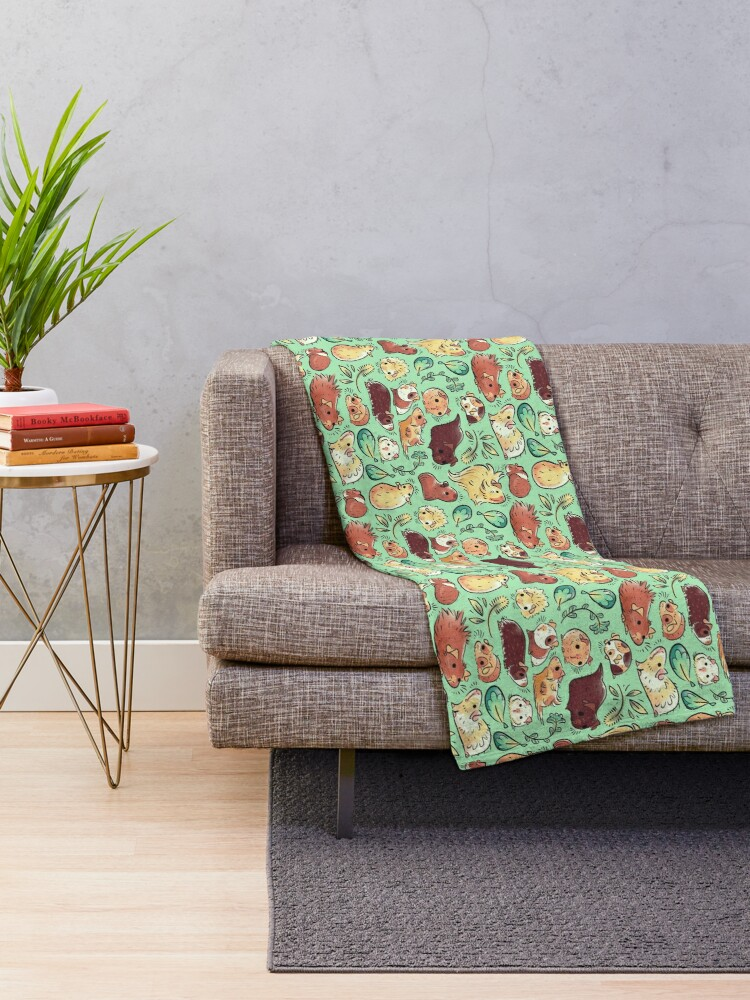 Alternate view of Guinea Pig Huddle Throw Blanket
