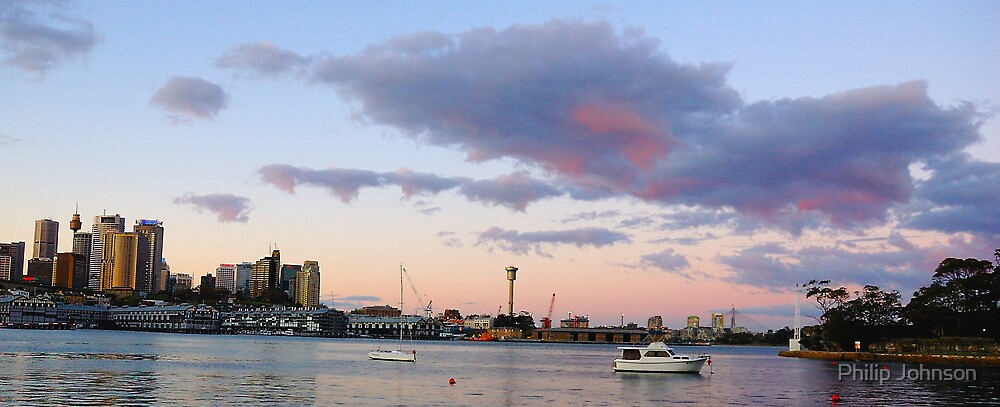 Awaiting The Dawn - Sydney Harbour, Sydney Australia by Philip Johnson