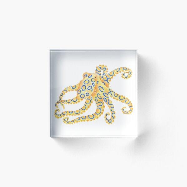 Blue Ring Octopus Acrylic Block