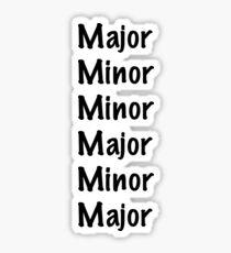 Major Minor Schedule Sticker
