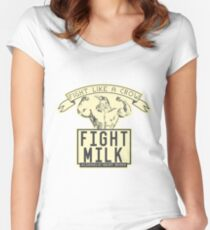 FIGHT MILK - FIGHT LIKE A CROW Women's Fitted Scoop T-Shirt