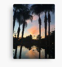 Sunset - orange Canvas Print