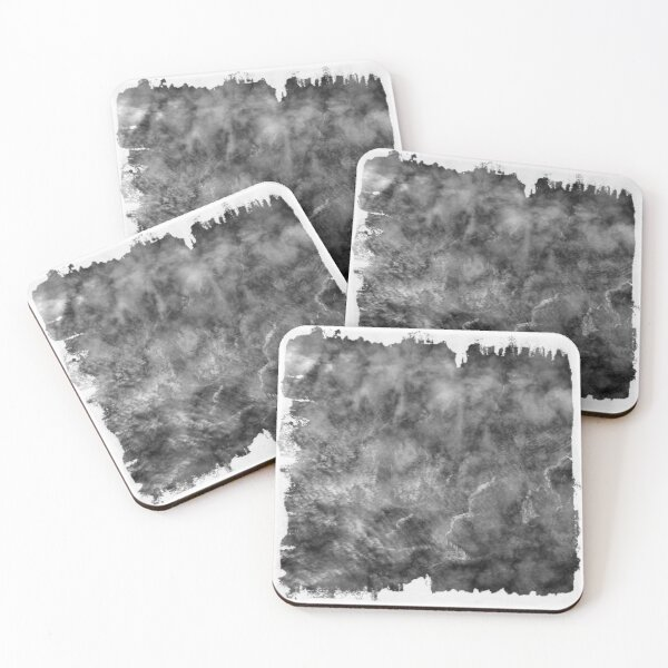 The Atlas of Dreams - Plate 21 (b&w) Coasters (Set of 4)