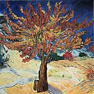 Van Gogh, The Mulberry Tree, acrylic reproduction by naturematters