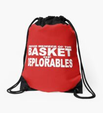 PROUD MEMBER OF THE BASKET OF DEPLORABLES Drawstring Bag