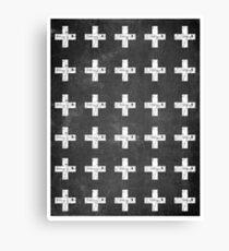 Scandinavian Swiss Cross  Canvas Print