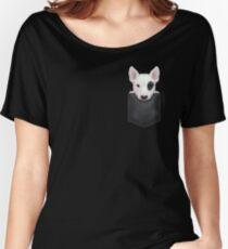 Bull Terrier in Chest Pocket Women's Relaxed Fit T-Shirt