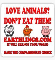 Earthlings - cute Sticker