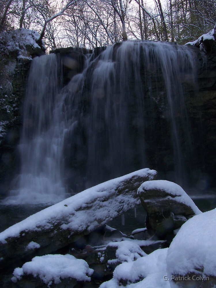 Winter Waterfall: Hayden Run Falls (#1) by Gregory Colvin