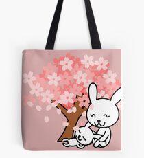 Cute Pink Bunnies Tote Bag
