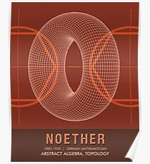 Science Posters - Emmy Noether - Mathematician Poster