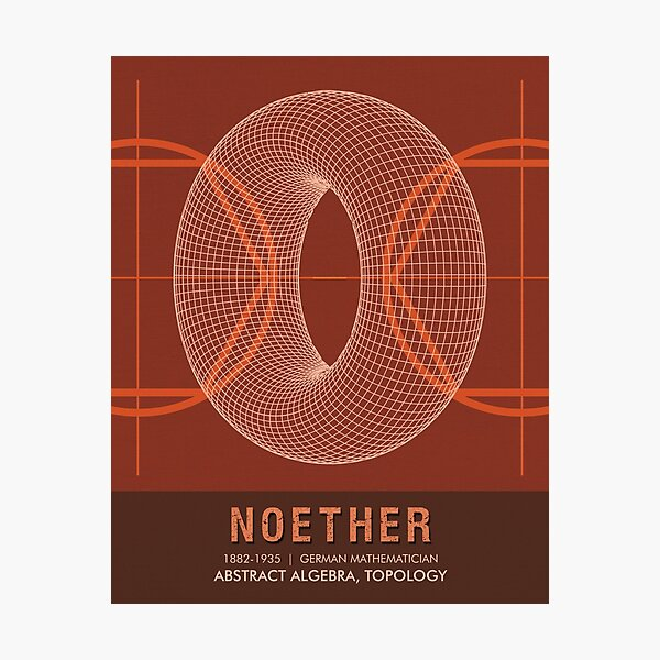 Science Posters - Emmy Noether - Mathematician Photographic Print