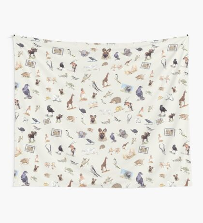 Lodge décor - Wildlife festival Wall Tapestry