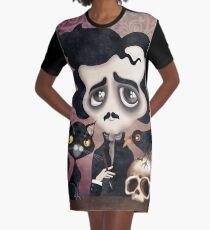 Edgar Poet Graphic T-Shirt Dress