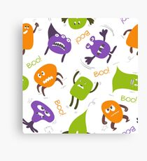 Colorful funny monsters Canvas Print