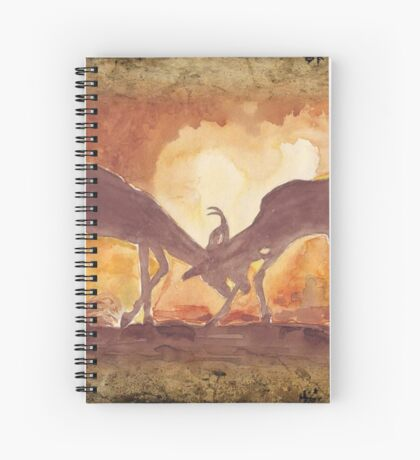 Lodge décor - Territorial Dance in the African sunset Spiral Notebook