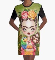 Frida Querida Graphic T-Shirt Dress