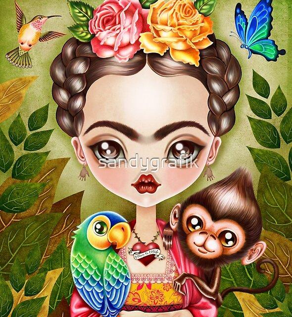 Frida Querida by sandygrafik