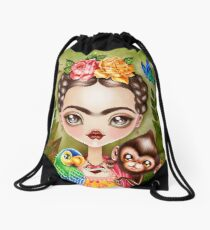 Frida Querida Drawstring Bag