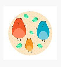 Cartoon funny hamsters Photographic Print