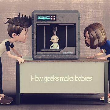 How Geeks Make Babies by 2HivelysArt