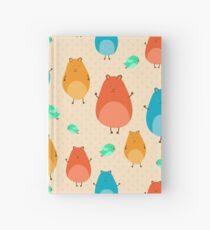 Cartoon funny hamsters Hardcover Journal