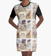 Lodge décor - South Africa's wildlife wonders Graphic T-Shirt Dress