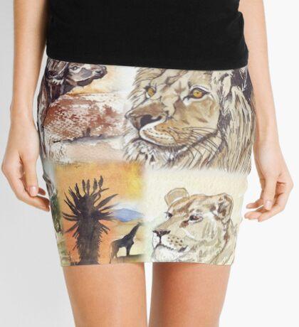 Lodge décor - South Africa's wildlife wonders Mini Skirt