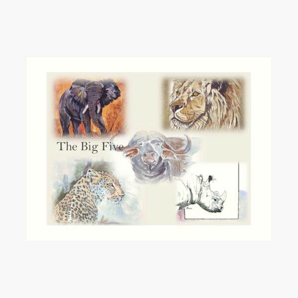 Lodge décor - The Big Five Art Print