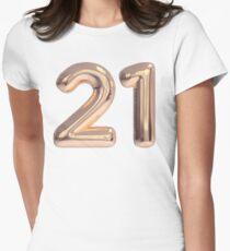 21 - 21st birthday, twenty one Womens Fitted T-Shirt