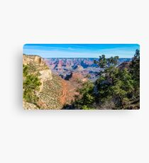 Panorama at Bright Angel Trail in Grand Canyon National Park Canvas Print