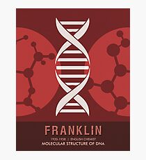 Science Posters - Rosalind Franklin - Chemist Photographic Print