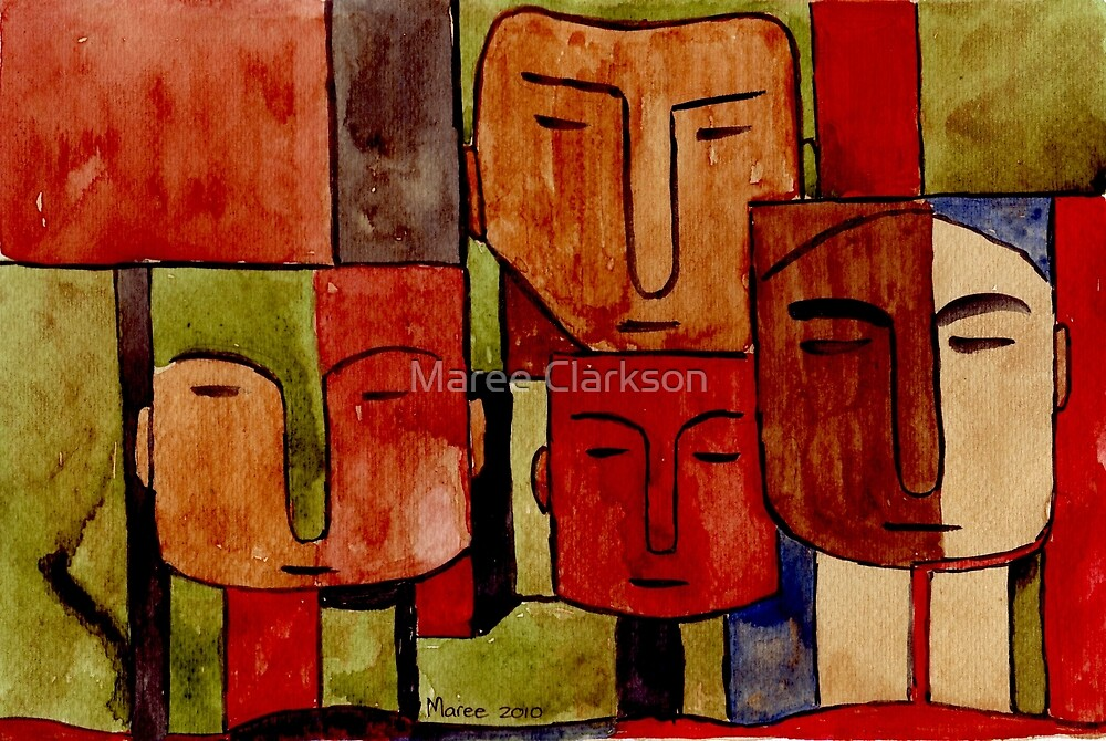 Lodge décor - Faces of Africa by Maree Clarkson
