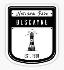 Biscayne National Park Florida Keys Badge Design Sticker