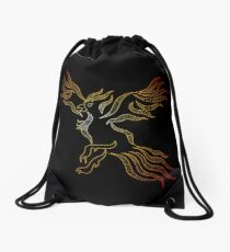 Phoenix in fire Drawstring Bag