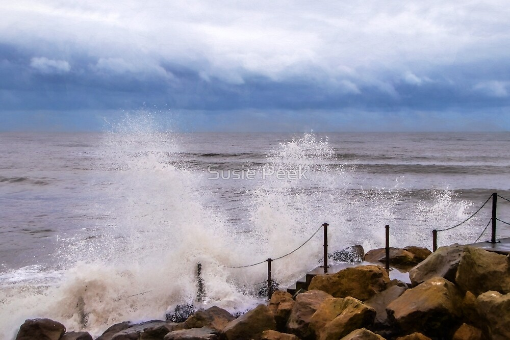 Stormy Seafront ~ Impressions by Susie Peek