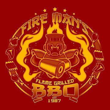 La barbacoa del hombre fuego de BCArtDesign