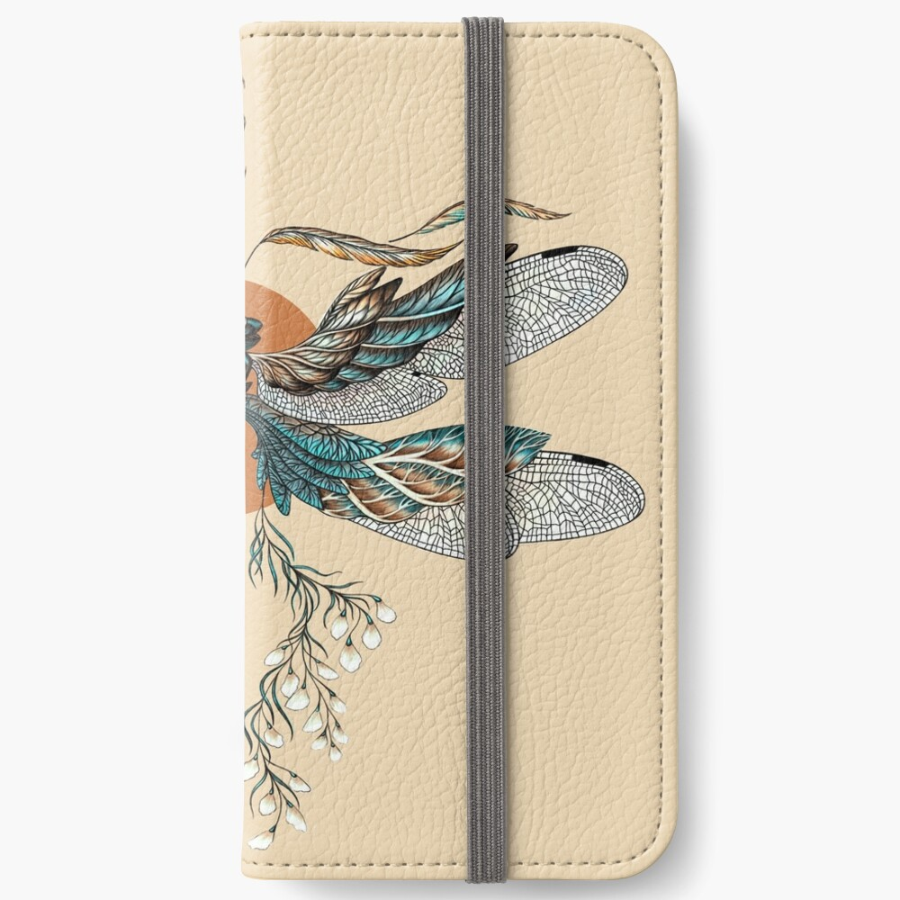 Dragon Fly Tattoo iPhone Wallet