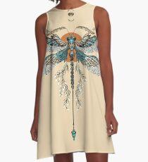 Dragon Fly Tattoo A-Line Dress