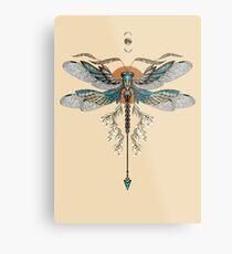 Dragon Fly Tattoo Metal Print