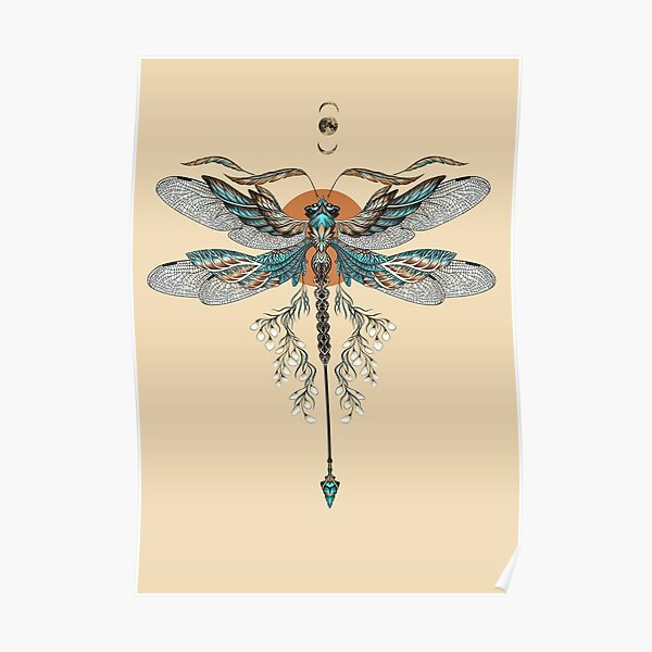 Dragon Fly Tattoo Poster