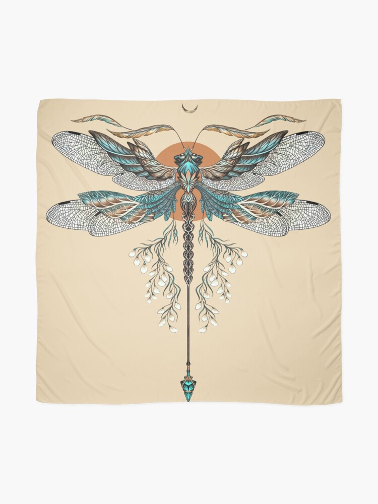 Alternate view of Dragon Fly Tattoo Scarf