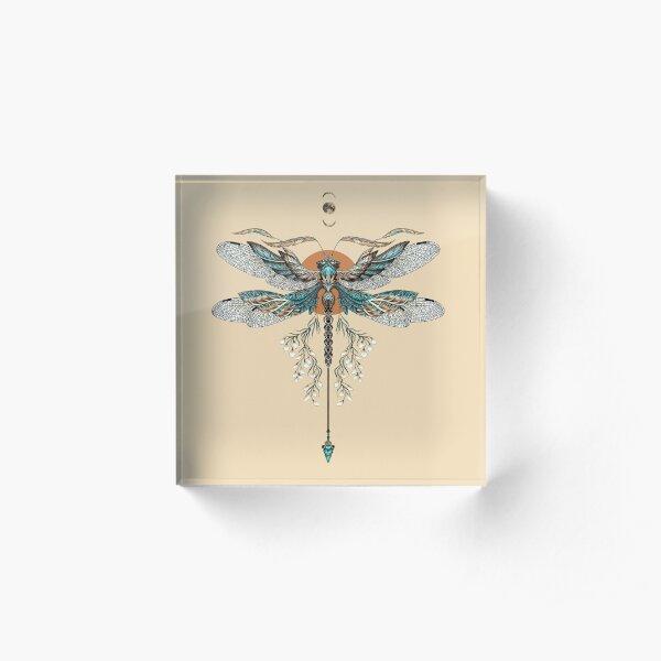 Dragon Fly Tattoo Acrylic Block