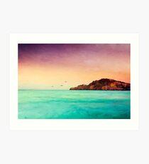 Glowing Mediterran Art Print