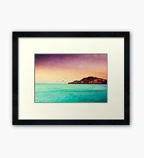 Glowing Mediterran Framed Print
