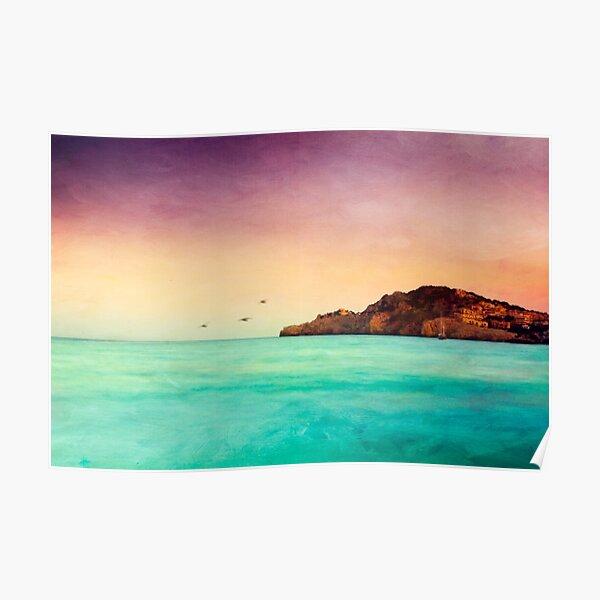 Glowing Mediterranean Sea Poster