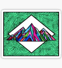 Colorful Topographical Mountain 1 Sticker